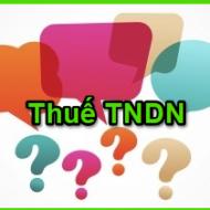 Hướng dẫn cách tính thuế TNDN mới nhất năm  2019