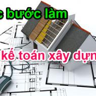 Kế toán làm sổ sách trong công ty xây dựng