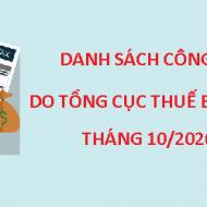 TỔNG HỢP Công văn do Tổng cục Thuế ban hành trong tháng 10/2020
